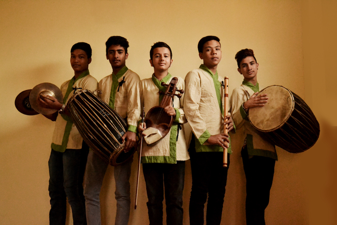 Nayan band, a group of talented young men from Nepal, who came to Bangkok in June 2015 during our fundraising campaign for the victims of the Nepal earthquake.